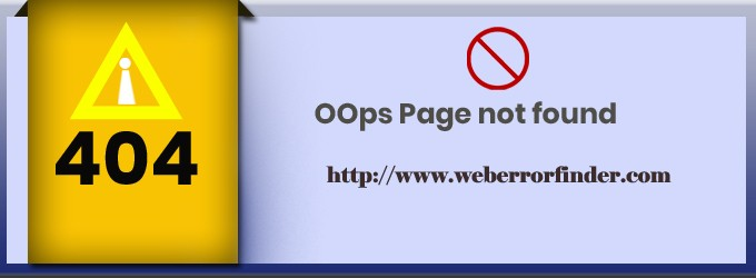 404 Error Page Not Found How to Fix