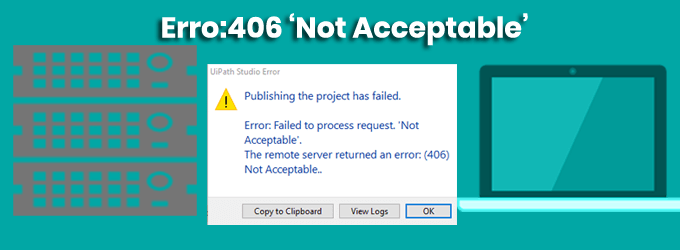 HTTP 406 Error Not Acceptable how to Fix
