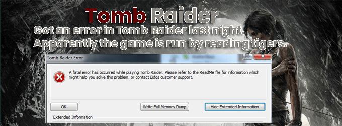 xbox one error Tomb Raider last night How to fix