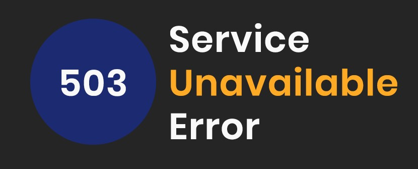 http 503 service unavailable error how to fix