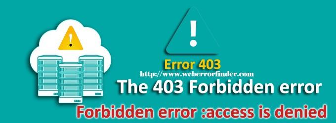 403 Forbidden-error How To Fix It