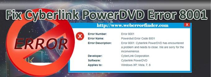 error 8001