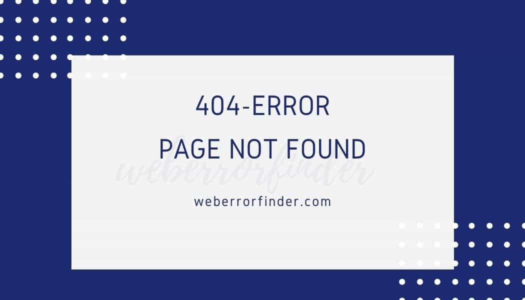 Easy Method to fix 404 Error